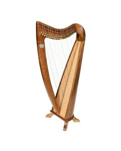 22 STRING CLADDAGH HARP WALNUT