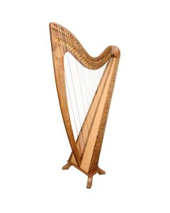 34 STRING CLADDAGH HARP WALNUT